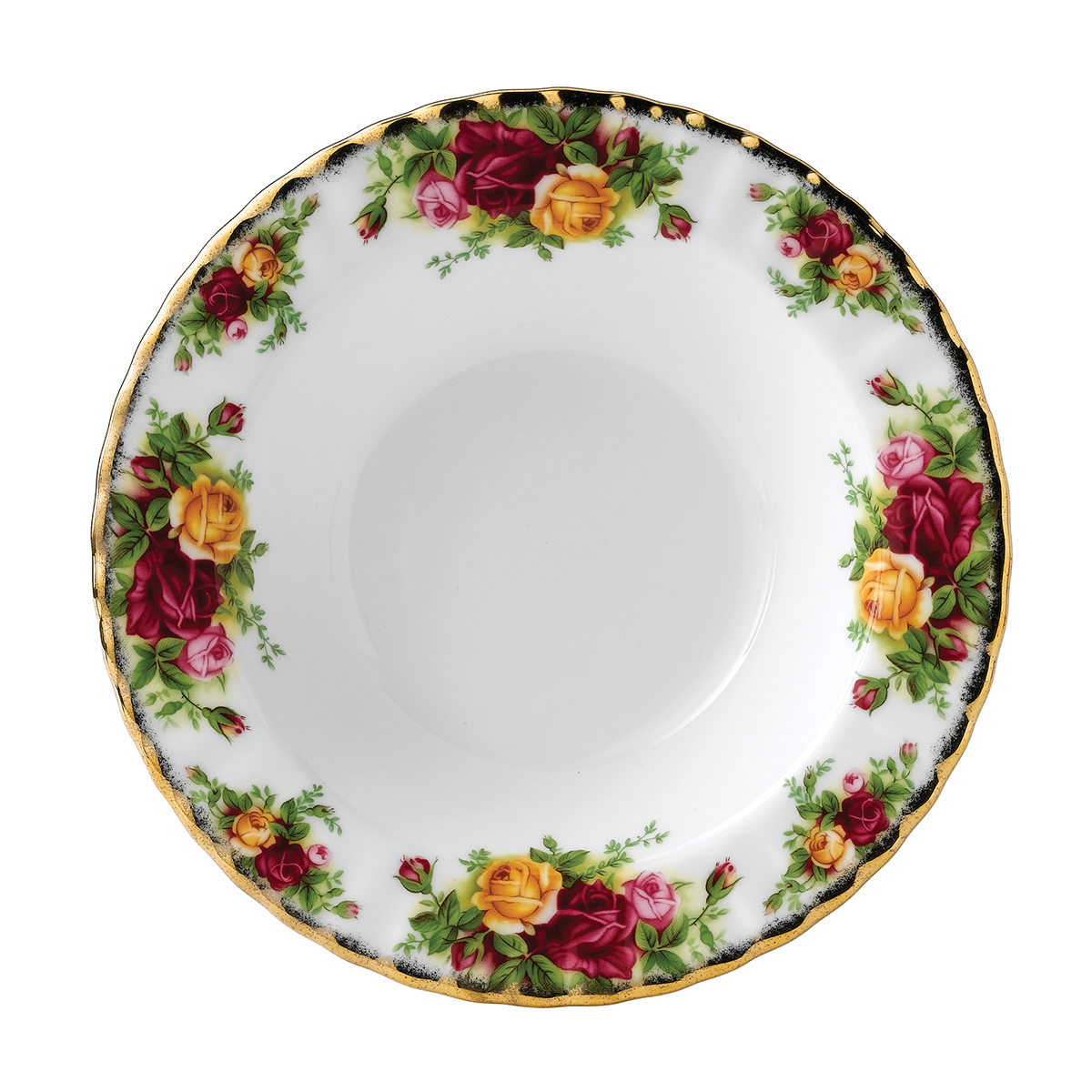Old Country Roses Rimmed Soup Bowl By Royal Albert