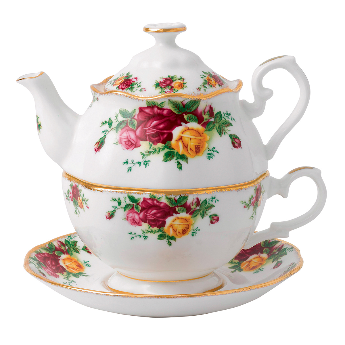 Old Country Roses Tea For One By Royal Albert
