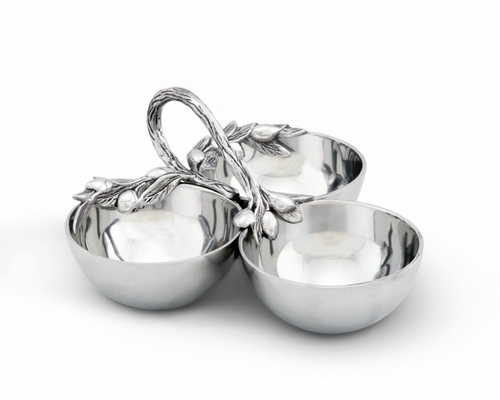 Olive 3-Bowl Server by Arthur Court