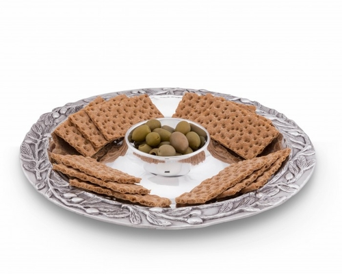 Olive Chip & Dip Tray by Arthur Court