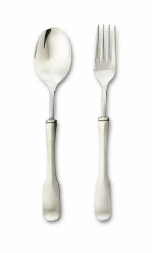 Olivia Serving Fork & Spoon by Match Pewter