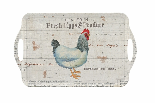 On the Farm Large Melamine Tray by Pimpernel