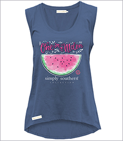One in a Melon Moonrise Tank Top by Simply Southern