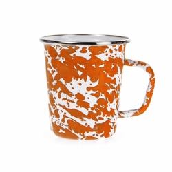 Orange Swirl 16 oz. Latte Mug by Golden Rabbit