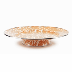 Orange Swirl Cake Plate by Golden Rabbit
