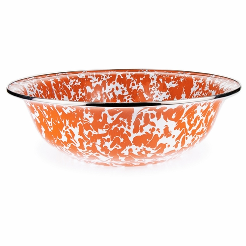 Orange Swirl Serving Bowl by Golden Rabbit