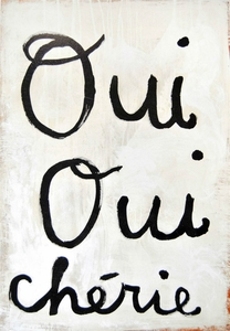 Oui Oui Cherie (Yes Yes Darling) Art Print Collection by Sugarboo Designs