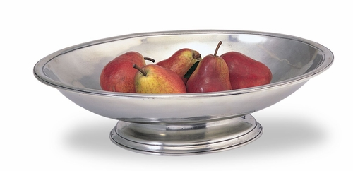Oval Footed Centerpiece Bowl by Match Pewter
