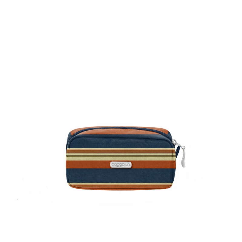 Pacific Stripe Square Cosmetic Case By