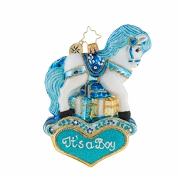 Pastel Prince Pony Ornament by Christopher Radko