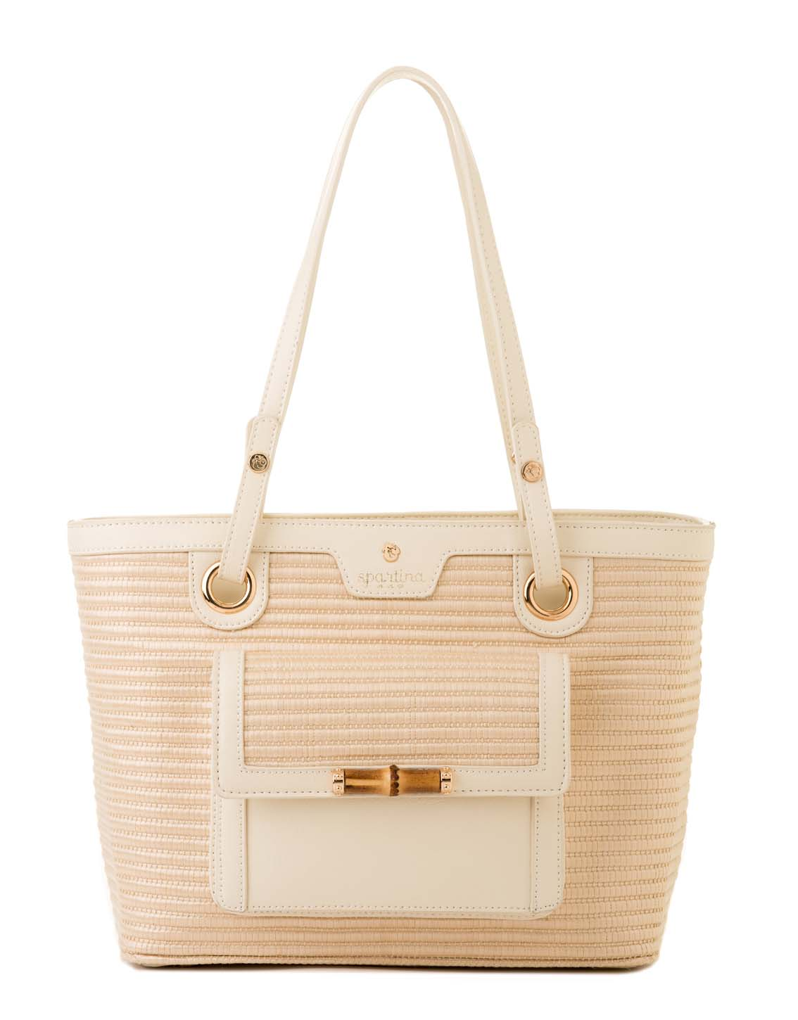 Pearl Bamboo Chic Tote Boutique Spartina 449