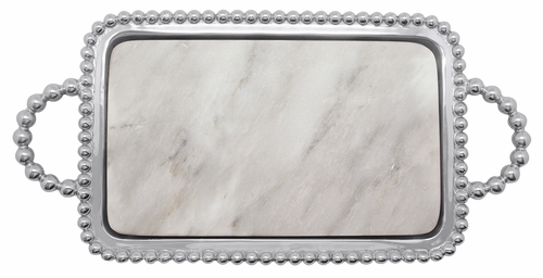 Pearled Marble Charcuterie by Mariposa