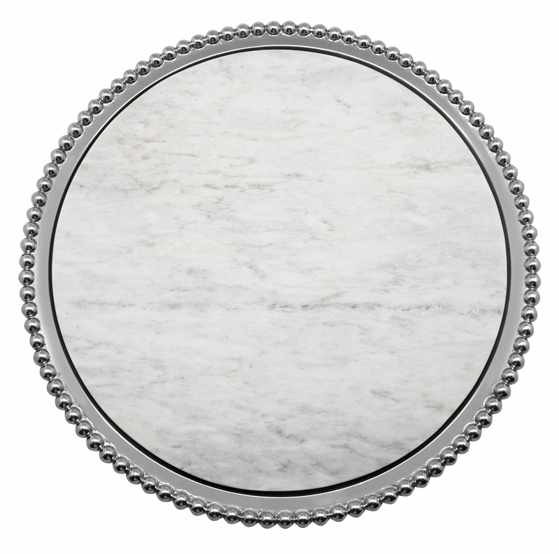 Pearled Marble Round Platter By Mariposa