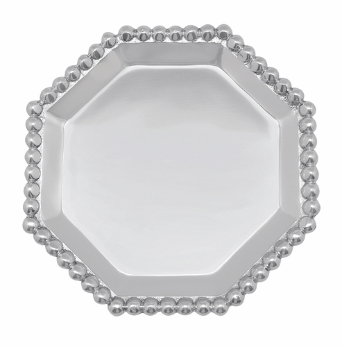 Pearled octagonal canape plate by mariposa for What is a canape plate
