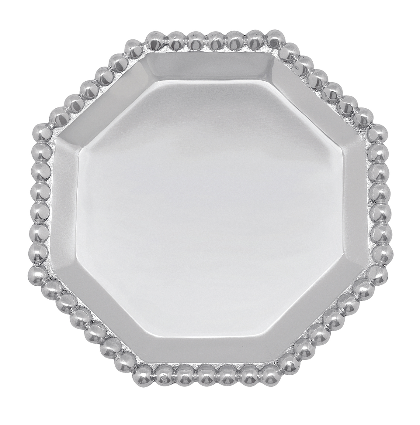 Pearled octagonal canape plate by mariposa for What is a canape plate used for