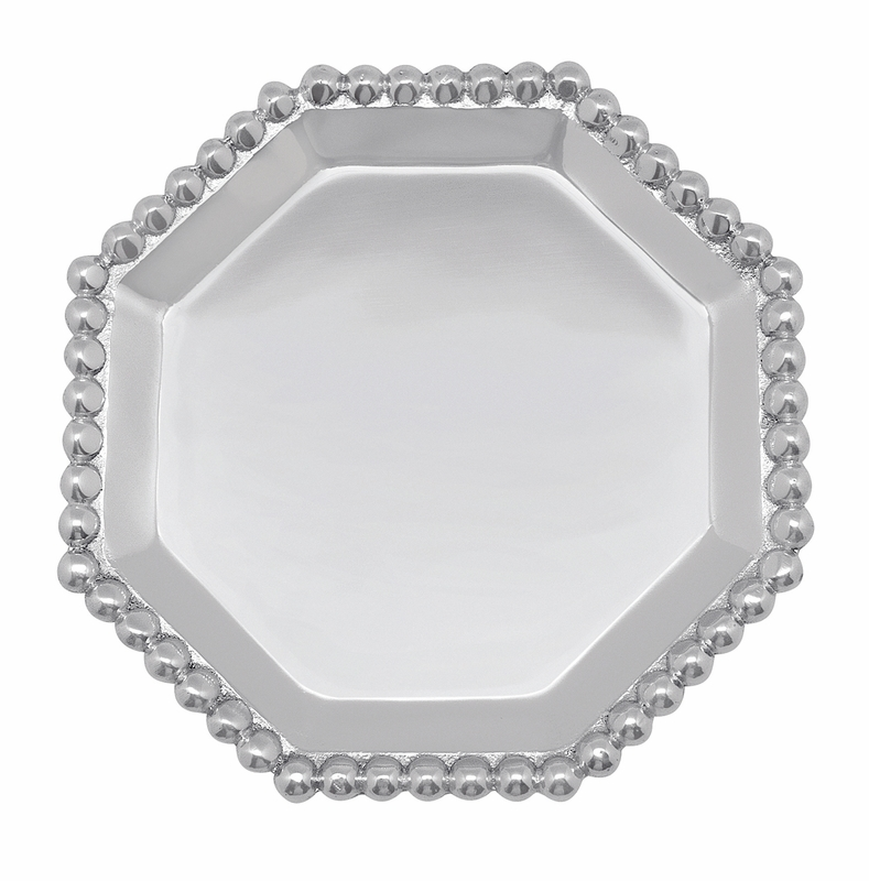 Pearled octagonal canape plate by mariposa for What are canape plates