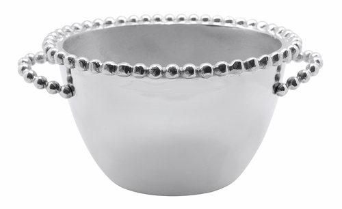 Pearled Small Oval Ice Bucket by Mariposa