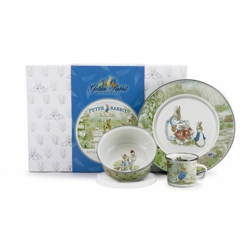 Peter Rabbit 3-Piece Child Gift Set by Golden Rabbit