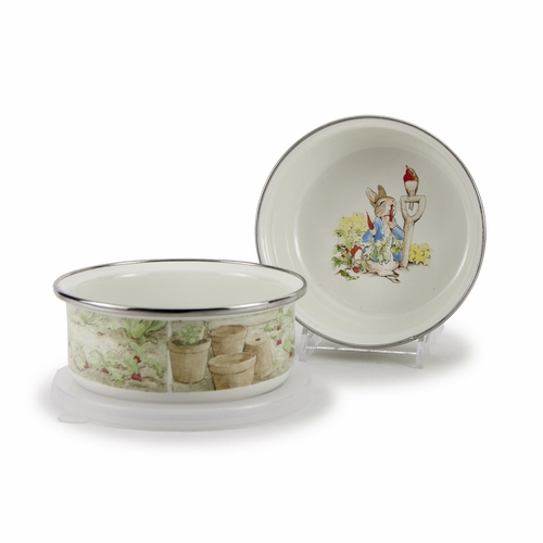 Peter Rabbit Child Bowl with Lid by Golden Rabbit