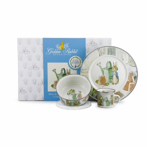 Peter & the Watering Can 3-Piece Child Gift Set by Golden Rabbit