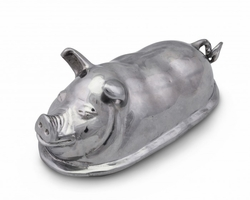 Pig Butter Dish by Arthur Court