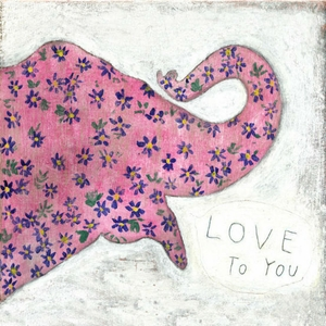 Pink Elephant Art Print Collection by Sugarboo Designs