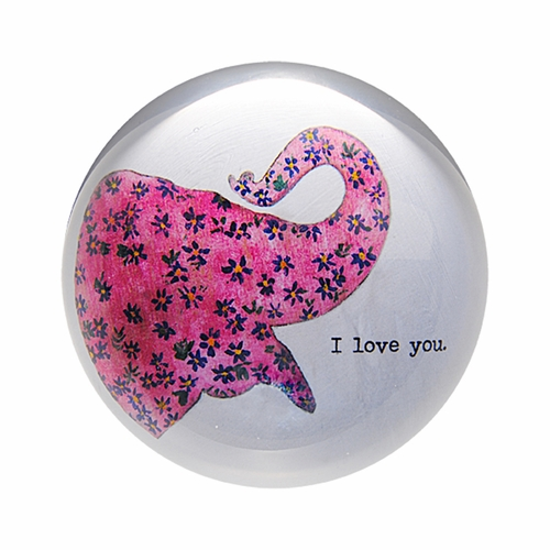 Pink Elephant Paper Weight (Set of 2) by Sugarboo Designs