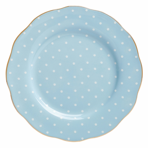 Polka Blue Salad Plate by Royal Albert - Special Order