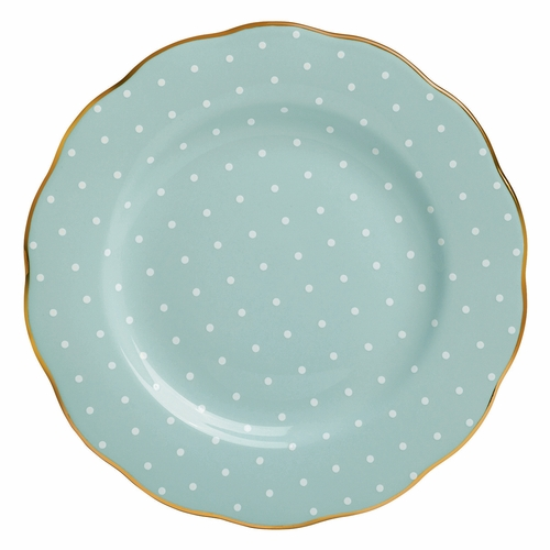 Polka Rose Salad Plate by Royal Albert - Special Order
