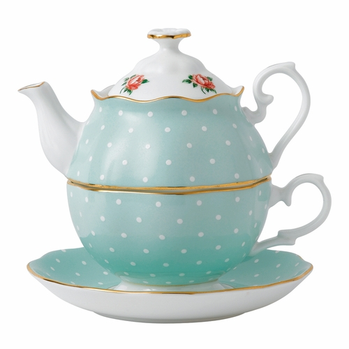 Polka Rose Tea For One by Royal Albert - Special Order