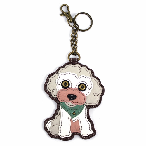 Poodle Key Fob/Coin Purse