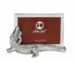 "Alligator 4"" x 6"" Photo Frame by Arthur Court"