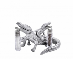 Alligator Hanging Salt & Pepper Set by Arthur Court
