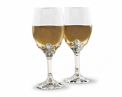 Fleur de Lis Wine Glass by Arthur Court