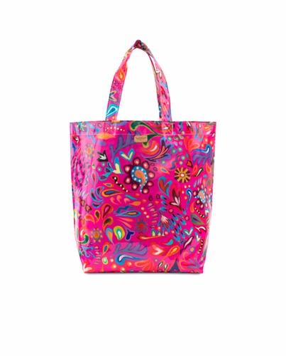 Pink Swirly Legacy Grocery Bag by Consuela