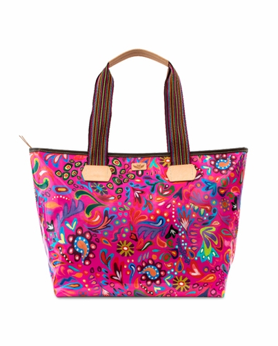 Pink Swirly Legacy Zipper Tote by Consuela