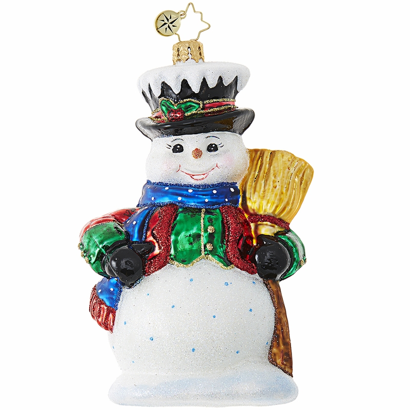 Dickensian Snowman Ornament by Christopher Radko