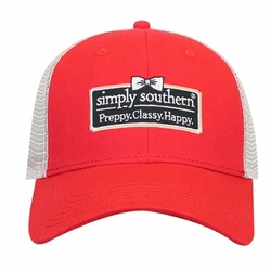 Preppy Classy Happy Strawberry Trucker Hat by Simply Southern