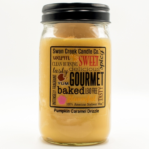 Pumpkin Caramel Drizzle 24 oz. Swan Creek Kitchen Pantry Jar Candle