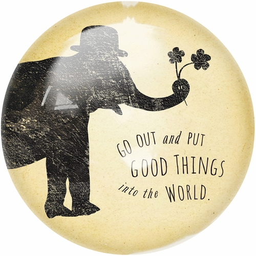 Put Good Things Into The World Paper Weight (Set of 2) by Sugarboo Designs