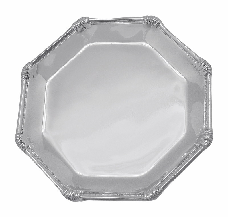 Rattan octagonal canape plate by mariposa for What is a canape plate