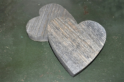 Reclaimed Wood Hearts (Set of 6) by Sugarboo Designs