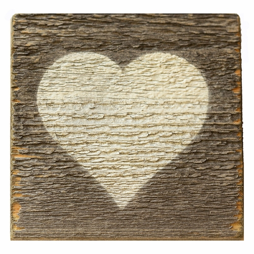 Reclaimed Wood White Heart Coasters (Set of 6) by Sugarboo Designs
