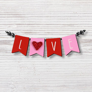 roeda handpainted originals red love banner magnet