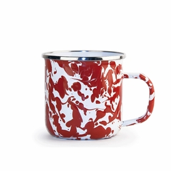 Set of 4 - Red Swirl 12 oz. Mug by Golden Rabbit
