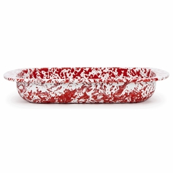 Red Swirl Baking Pan by Golden Rabbit