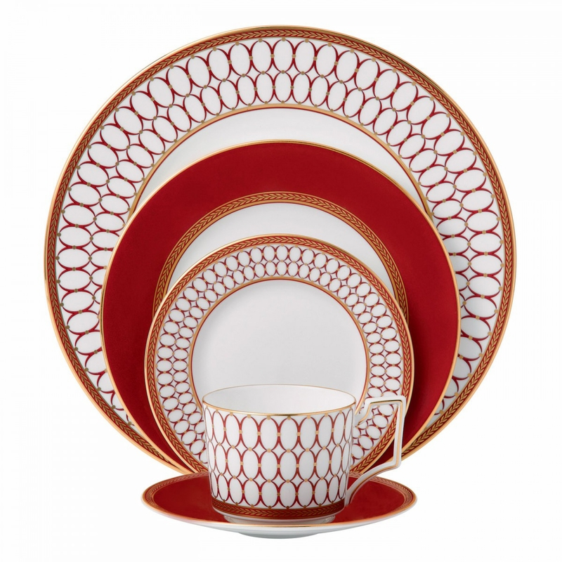 Renaissance Red 5 Piece Place Setting By Wedgwood