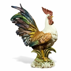 "Rooster Colored 23.5""H by Intrada Italy"