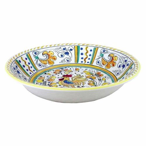 Rooster Yellow Salad Bowl by Le Cadeaux