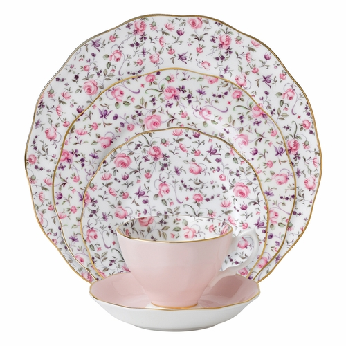 Rose Confetti 5-Piece Place Setting by Royal Albert - Special Order